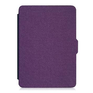 Fintie SlimShell Funda para Kindle Paperwhite - La Más Delgada y Ligera Carcasa de Cuero Sinpetético con Función de Auto-Reposo/Activación (No se ...