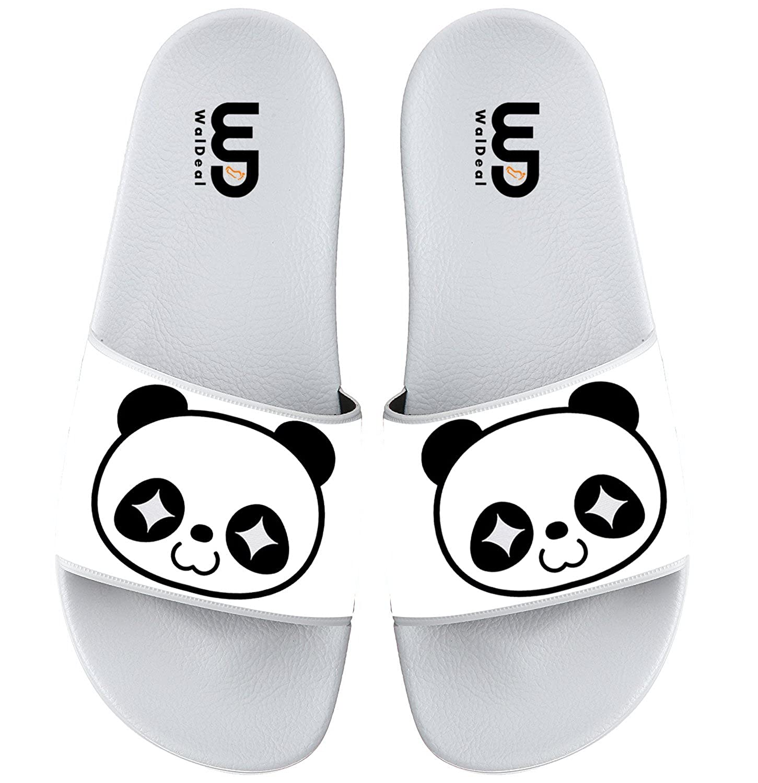 Cartoon Cute Panda Face Print Summer Slide Slippers For Boy Girl Men Women Outdoor Casual Sandals Shoes