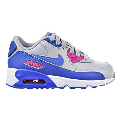 innovative design 6b9ac cdfde Nike Air Max 90 LTR (PS) Little Kid s Shoes Wolf Grey Comet Blue