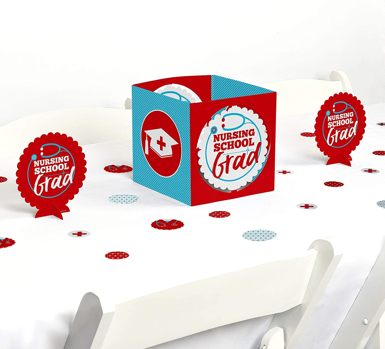 Big Dot of Happiness Nurse Graduation - Medical Nursing Graduation Party Centerpiece and Table Decoration Kit