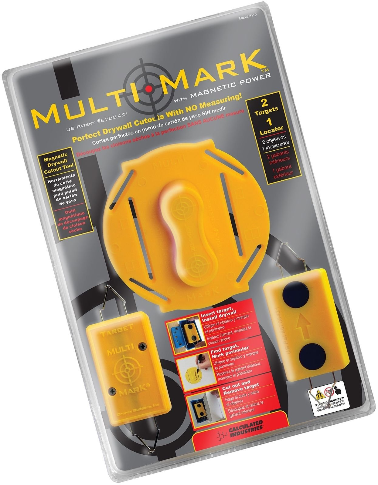 Multi Mark Drywall Cutout Locator Tool by Empower Elegance