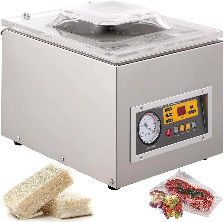 BestEquip Chamber Vacuum Sealer Machine DZ 260S Commercial Kitchen Food Chamber Vacuum Sealer, 110V Packaging Machine Sealer for Food Saver, Home, Commercial Using
