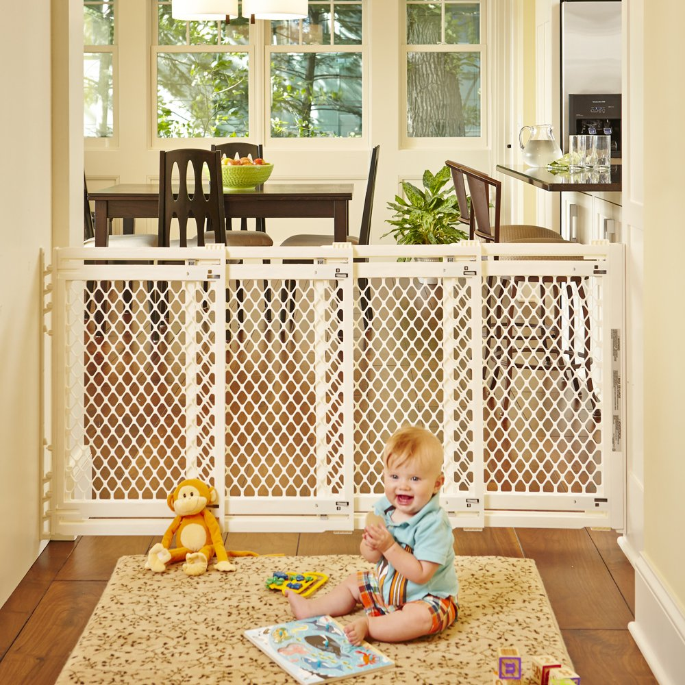 amazoncom  extrawide gate ivory fits spaces between  to   - amazoncom  extrawide gate ivory fits spaces between  to  wideand high  indoor safety gates  baby