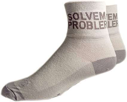 SockGuy Classic 3in Problem Solver Limited Edition Cycling//Running Socks Solvem