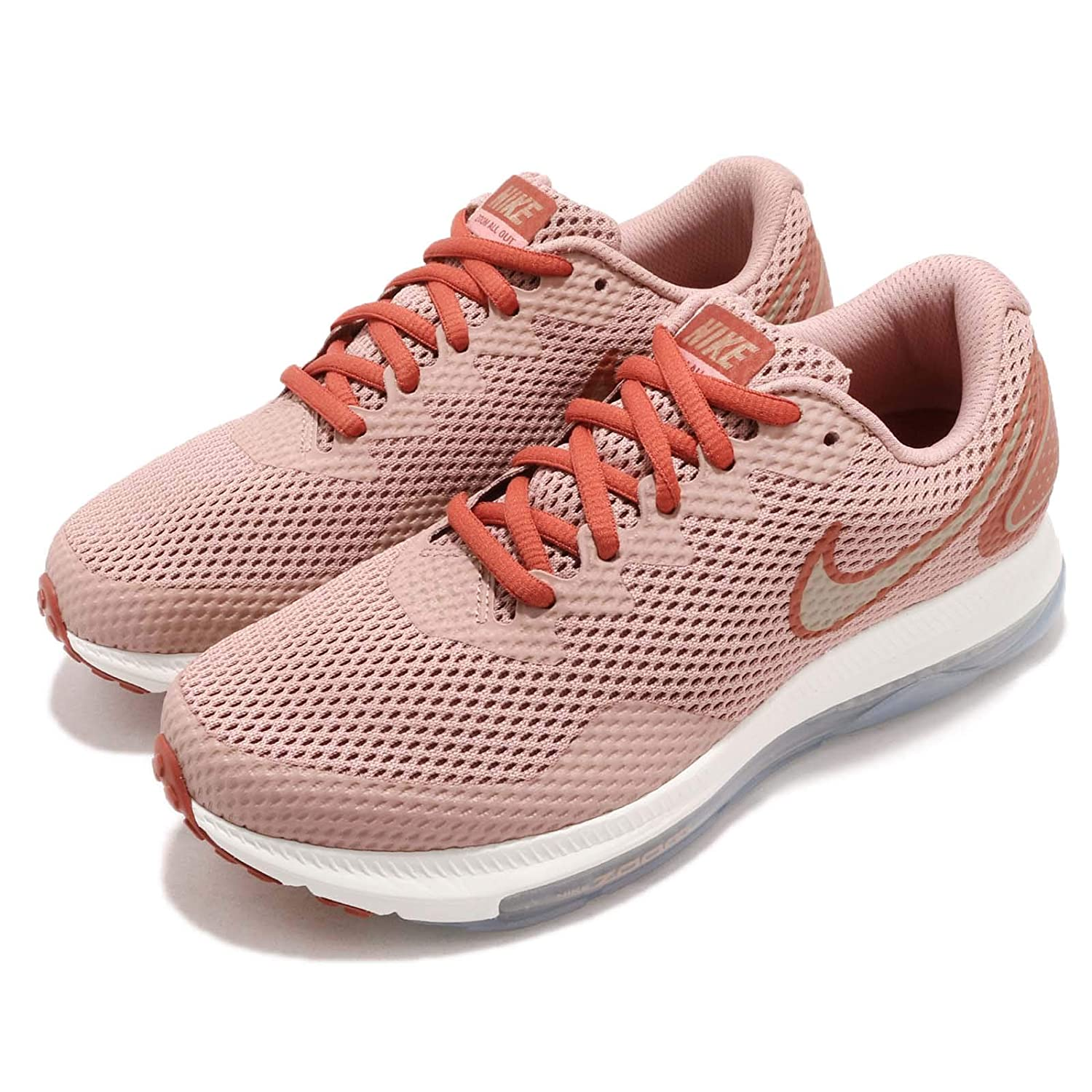 NIKE Woherren WMNS Zoom All Dusty Out Low 2 Dusty All Peach MTLC rot Bronze 7 US eae976