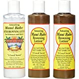 Maui Babe Tanning Pack (2 Browning Lotions 8 oz, 1 After Browning Lotion 8 oz)