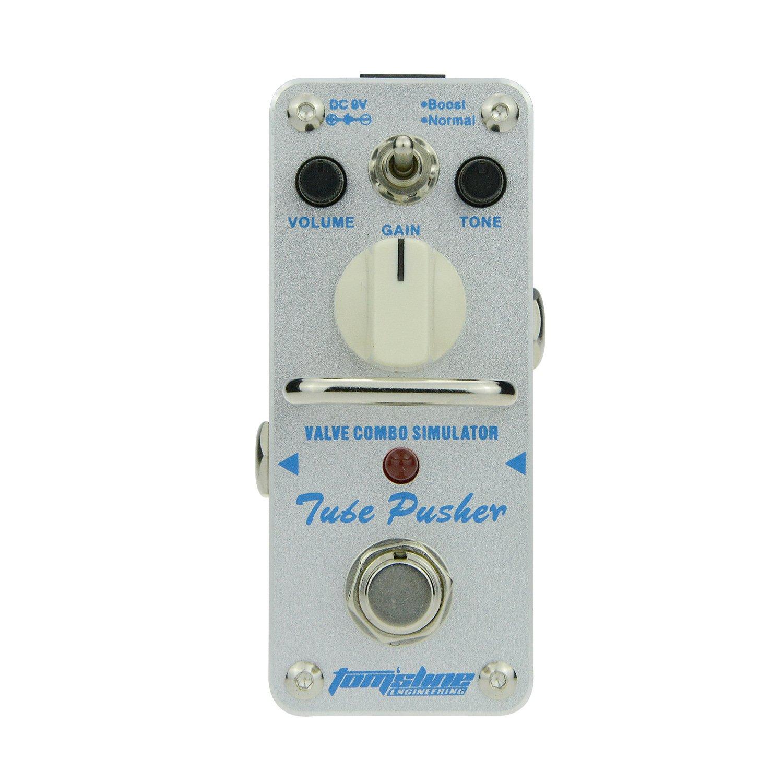 Tomsline Engineering Pedal de efecto de overdrvie TUBE PUSHER ATP-3 Recreación de un tubo clásico overdrive tono de una válvula combo amplificador Dos ...