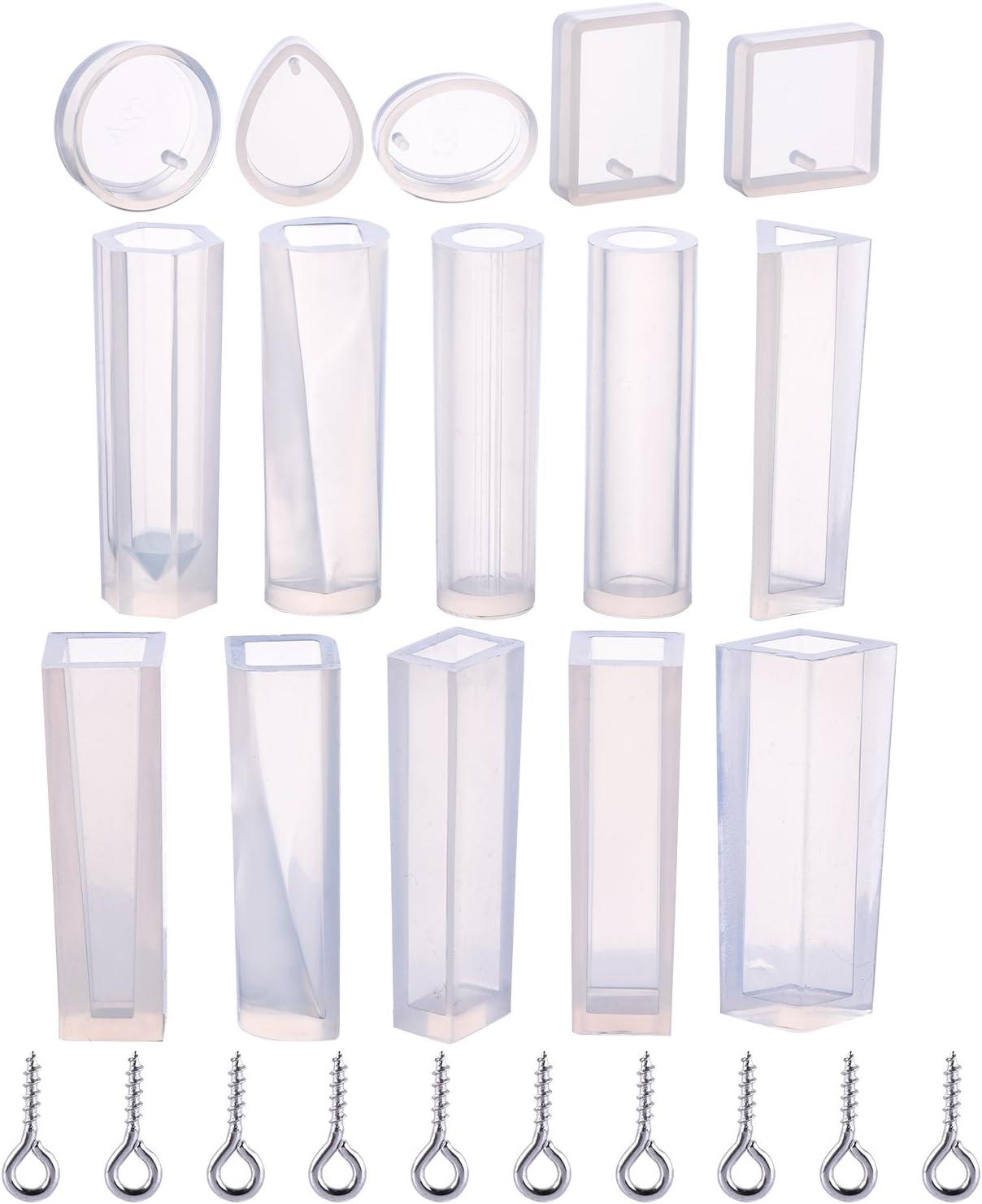 15 moldes de silicona para resina