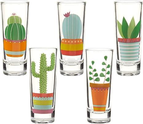 Shot Glass Arizona Scorpion Stinger Recipe on Glass Desert Cactus Hot Sun New 16