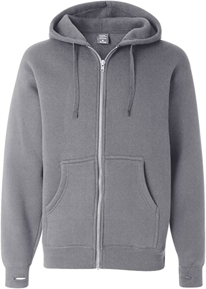 Full Zipper Jacket Size: M Men/'s Hoodie - Gray Independent Trading Co