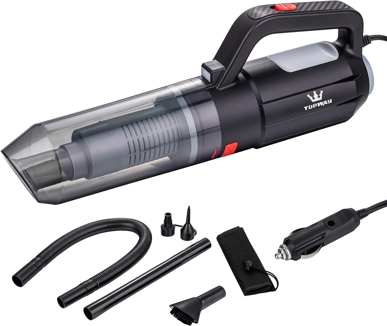 TOPWAY 2 en 1 Aspiradora de mano aspirador soplador de coche 12 V negro y rojo: Amazon.es: Bricolaje y herramientas