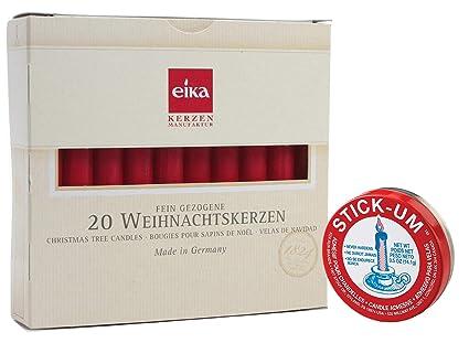 Eika Kerzen.Eika Set Of 20 Red Tree Candles 4 Plus Stick Um 3100 Candle Adhesive 0 5 Ounce