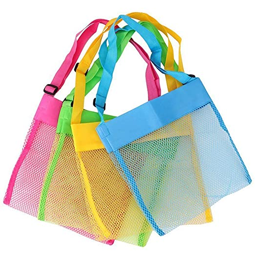 70bad1e290fe Image Unavailable. Image not available for. Color  Peicees 4 Pack Beach  Mesh Tote Seashell ...