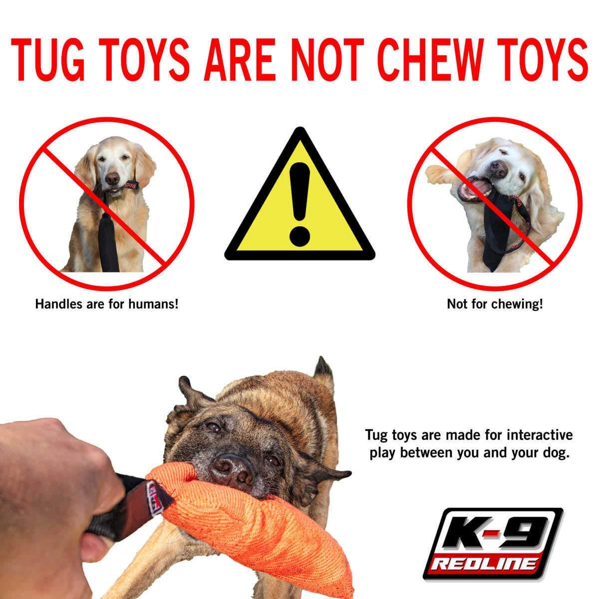 Jute Tug Toy 1.5 x 10 1 handle RedLine K9