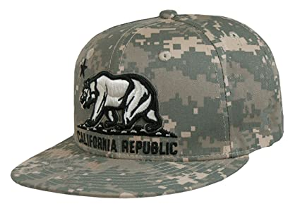 ddf1a83deee California Republic Camo Print Flat Bill Snapback by WHANG (Universal  Digital)