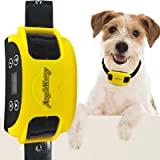 AngelaKerry Wireless Dog Fence System with GPS, Outdoor Pet Containment System Rechargeable Waterproof Collar EF 851S Remote