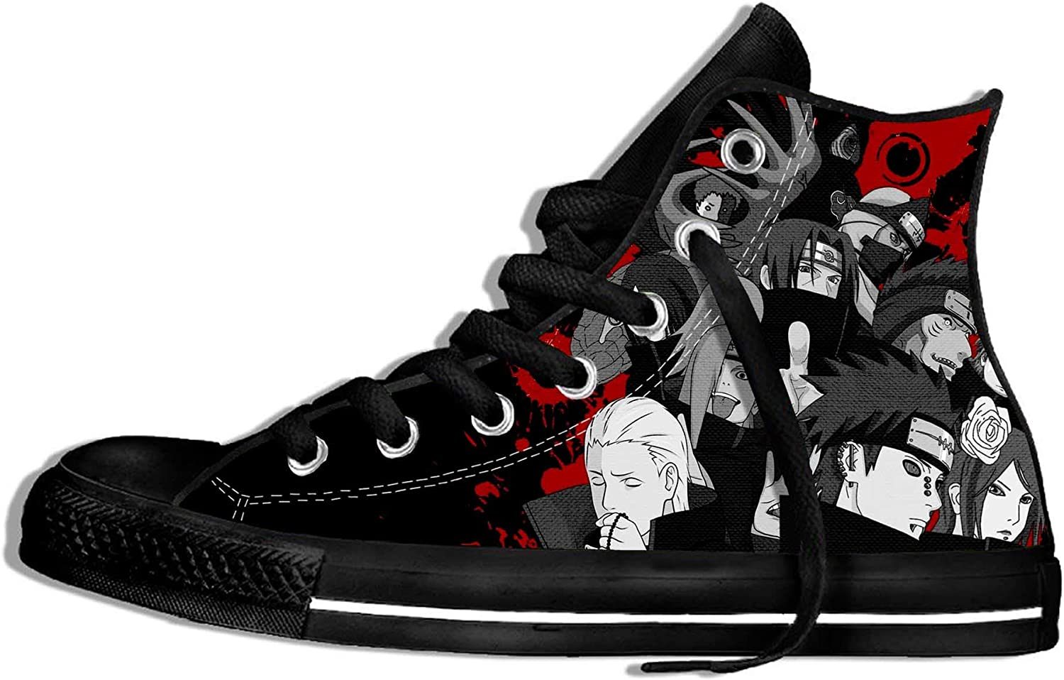 HFRNRS Unisex Adult 3D Japanese Anime Naruto Shoes Lightweight Casual Shoes Cool Sneakers