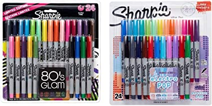 Sharpie Ultra-Fine Point Permanent Markers, 80s Glam and Electro ...