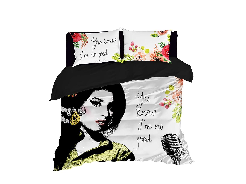 Amy 's no good布団カバーデザインbyクール寝具セットの4または3個Amy Winehouse布団カバーまたは掛け布団、Amy Winehouseファンベッドセット、Amyファンホームインテリア Queen 95