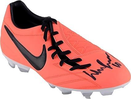excepcional gama de colores bastante agradable zapatos casuales Wayne Rooney Manchester United Autographed Orange T90 Nike Cleat ...