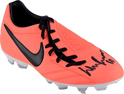 Image Unavailable. Image not available for. Color  Wayne Rooney Manchester  United Autographed Orange T90 Nike Cleat - Fanatics Authentic Certified ... 22a49bf6ef4
