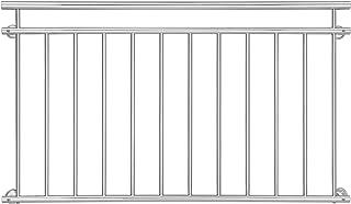 [casa.pro]® Balcone francese 90x100cm Finestra Ringhiera Inferriata Griglia