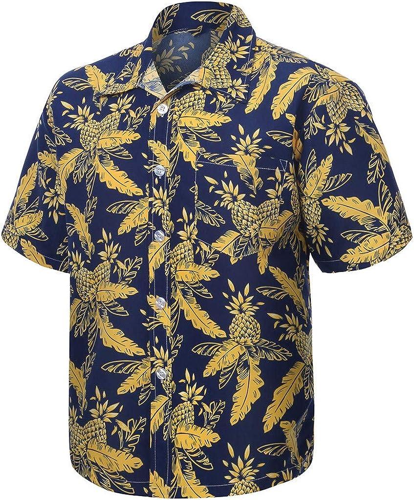 DressUMen Long-Sleeve Print Plus Size Turn Down Collar Tees Top Tshirts