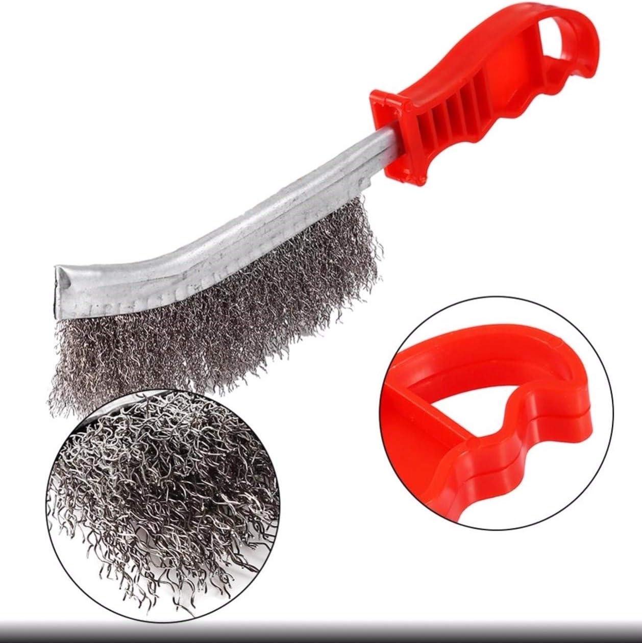 Nettoyage et brossage des surfaces fragiles ou tendres Kibros 8SPIVP SKRIB 1 rang PVC rigide Brosse /à main m/étallique convexe
