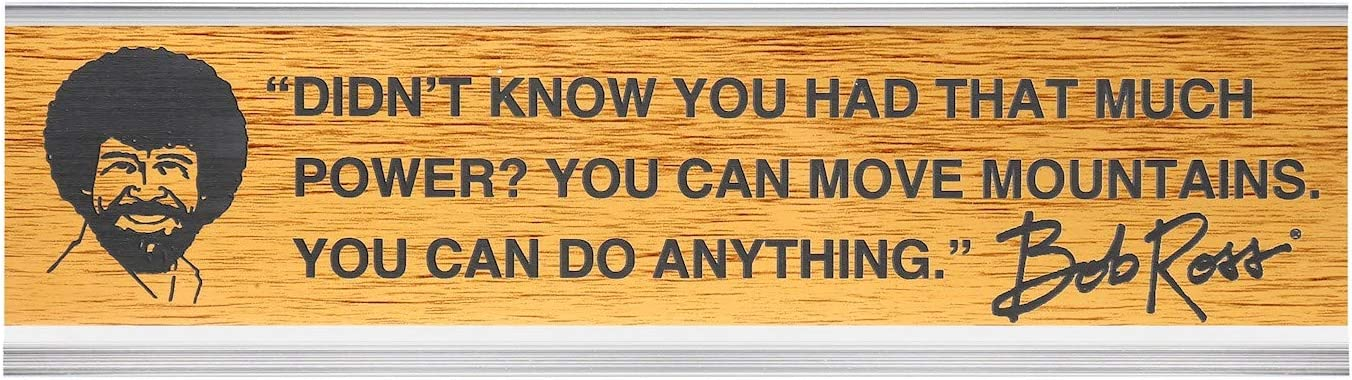 "Wellspring Bob Ross Office Desk Sign:""Didn't Know You Had That Much Power? You Can Move Mountains. You Can Do Anything"""