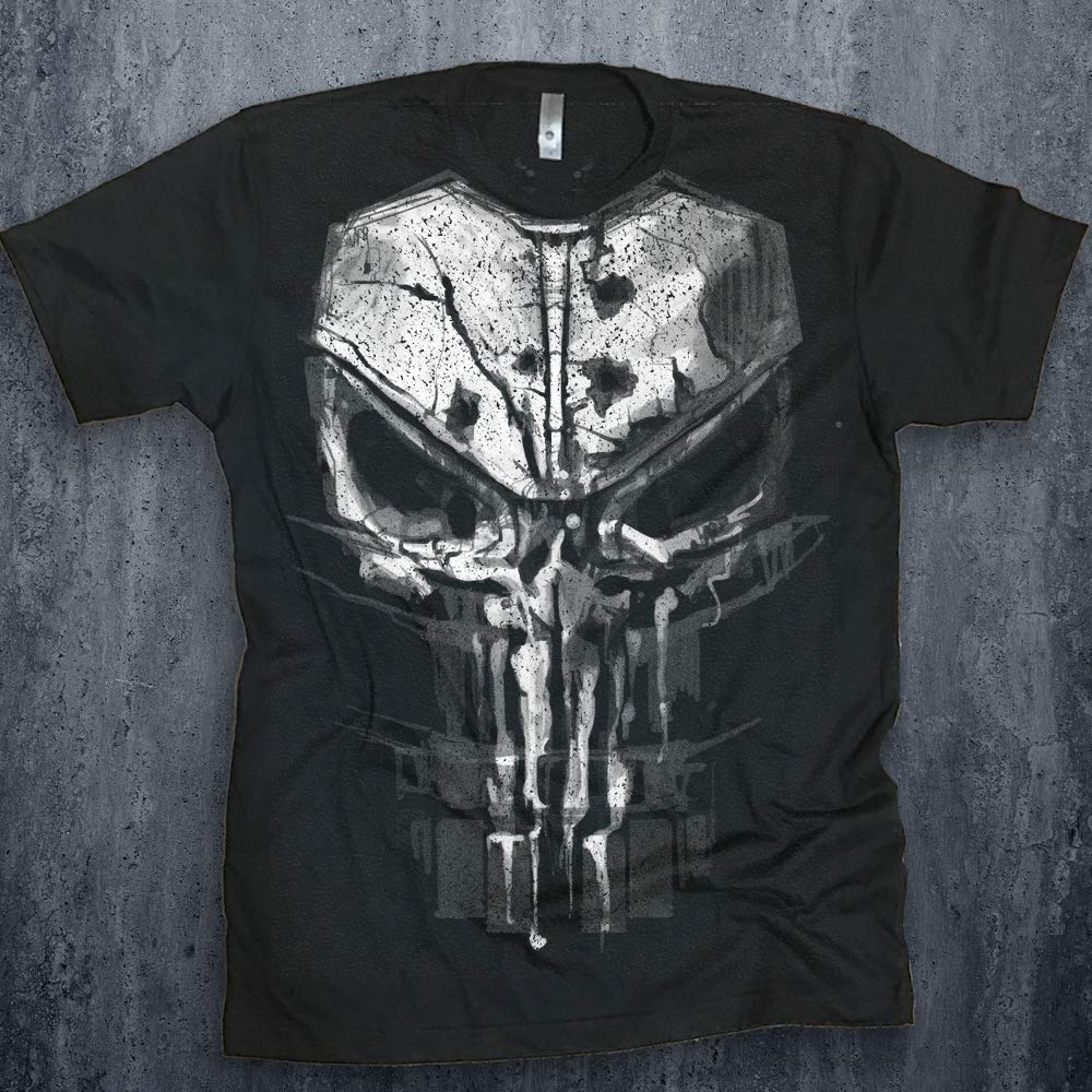 9b81ce01931bb Amazon.com  Punisher Men s Bloody New Skull Graphic T-shirt Season 2  Daredevil Tee Netflix Marvel Shirt  Handmade