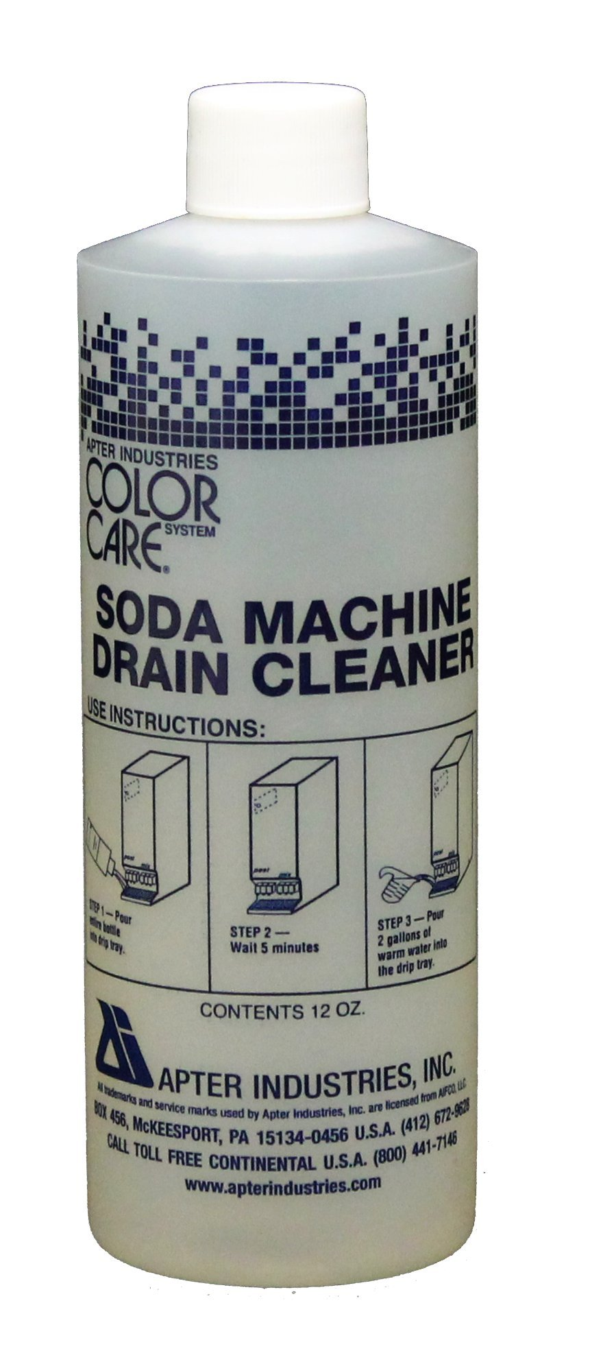 Apter Industries 13-SMDC-6/12 Soda Machine Drain Cleaner, 12 oz. (Pack of 6)