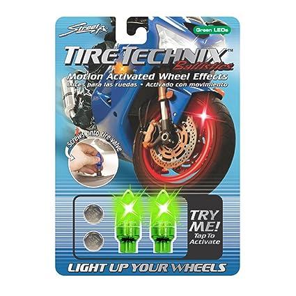 Amazon.com: Street FX 1042191 Tire Technix Moto Ballistics Green ...