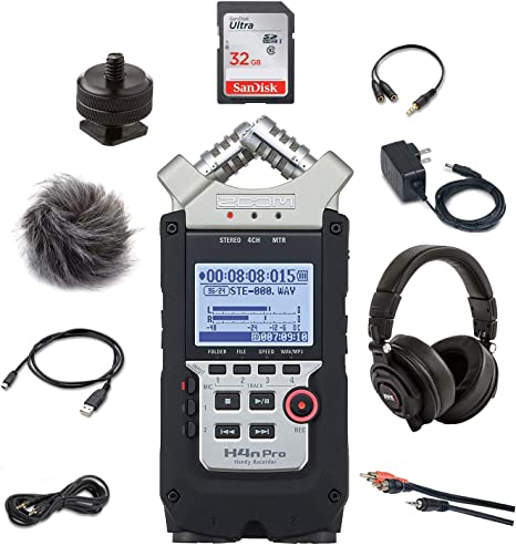 Zoom H4n Pro 4-Channel Handy Recorder Bundle with Accessory Pack ...