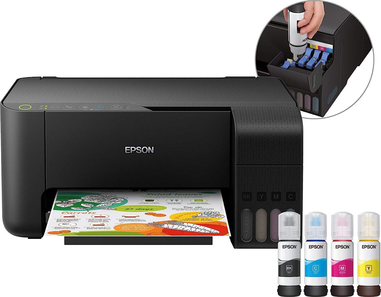 Epson EcoTank ET-2710 - Impresora multifunción (Inyección de Tinta, 5760 x 1440 dpi, 100 Hojas, A4, Impresión Directa, Negro)