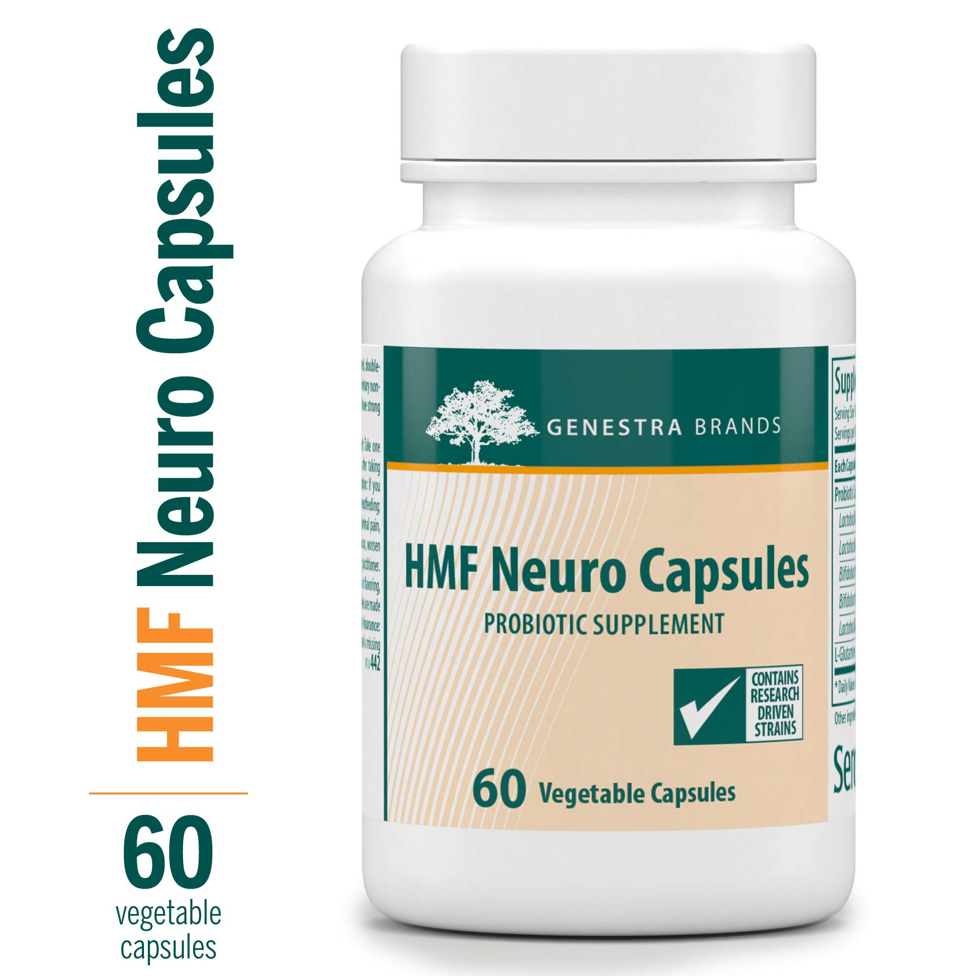 Genestra Brands - HMF Neuro Capsules - Probiotic and Amino Acid Formula - 60 Capsules by Genestra
