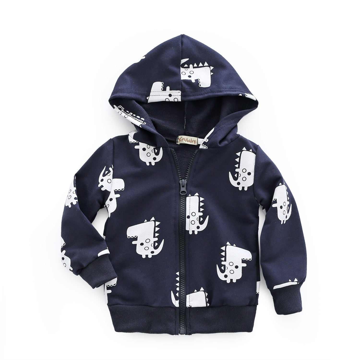 Dealone Baby Boy Zip Front Hoodie Sweathshirt Toddler Dinosaur Jacket Clothes BC0819