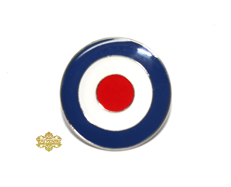 MOD ROUNDEL WITH TROJAN HELMET ENAMEL PIN BADGE RAF NEW