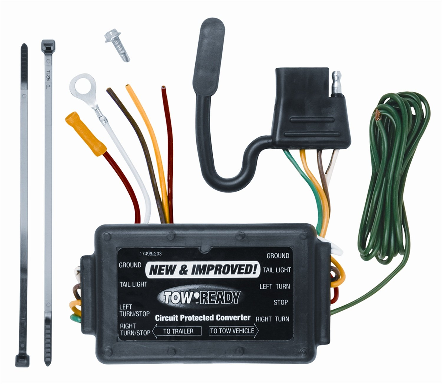 Tow Ready 119176 Modulite Protector With Integrated Wiring Trailer Lights Circuit Protection Automotive