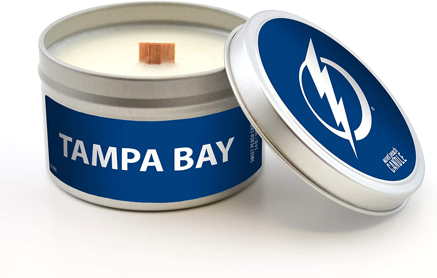 Worthy Promo NHL Tampa Bay Lightning Sweet Peach Scented Soy Wax Candle