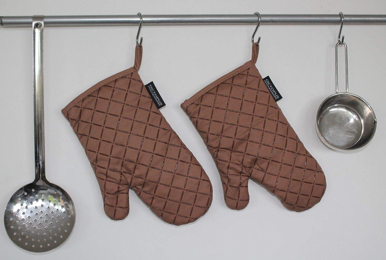 Antiscivolo Guanti da Forno per griglia Rivestimento in Silicone Come Protezione dal Calore Standard Anthrazit-Grau Set da 2 OCTOPUS Kitchenware
