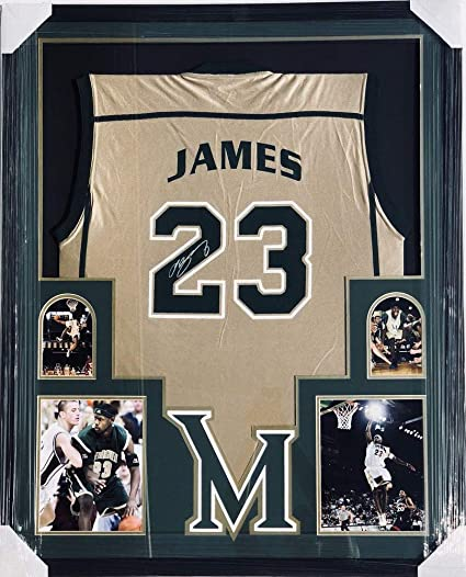 separation shoes 9b0f4 b8418 PSA/DNA Svsm Cavs Lebron James Autographed Signed Framed ...