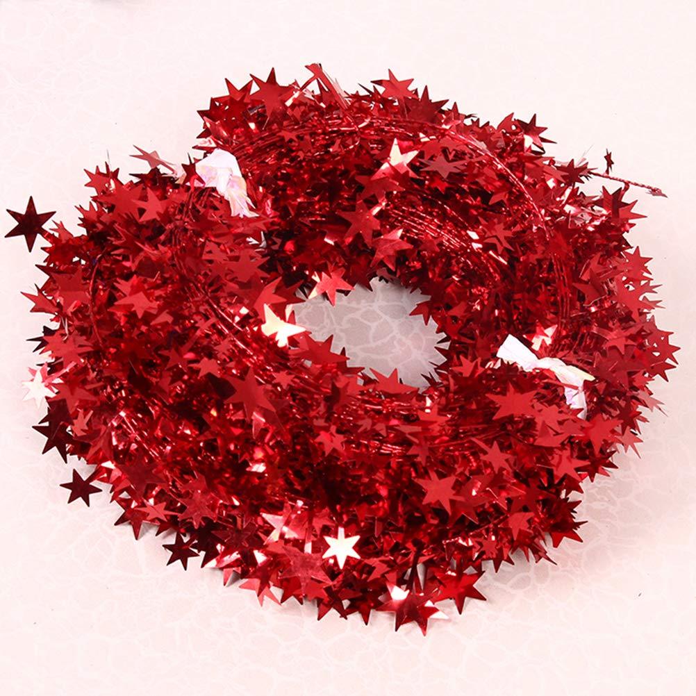 Guirnaldas de espumill/ón variadas entre verde Kikier Decoraci/ón de Navidad A/ñade brillo y pizazz a todas tus fiestas de vacaciones dorado rojo y plata 4 color