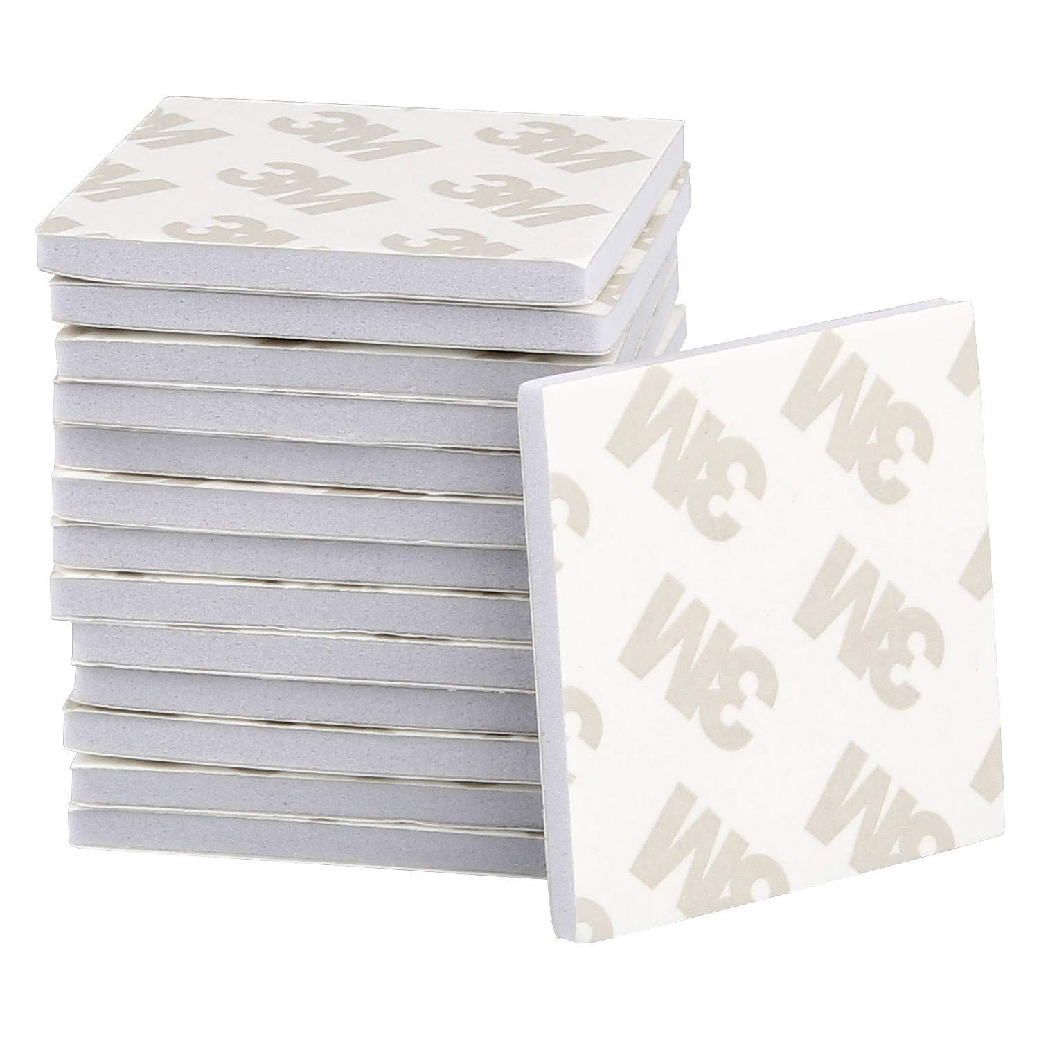 Square, White STARVAST 100Pcs 3M Double Sided Sticky Pads Super-Sticky Adhesive Foam Pads 3M Mounting Pads Tape