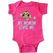 inktastic - My Memaw Loves Me Grandkids Infant Creeper 6 Months Hot Pink 2d667