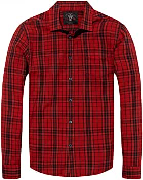 Scotch & Soda Camisa Oxford Cuadros Roja XL: Amazon.es: Ropa y accesorios