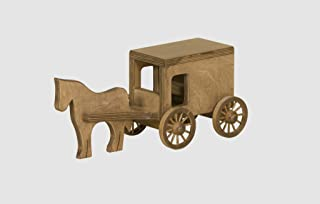 product image for Wooden Horse & Buggy - Harvest Stain - Amish Made in USA