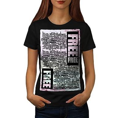 Amazon Wellcoda Free Inspiration Slogan Womens T Shirt Words