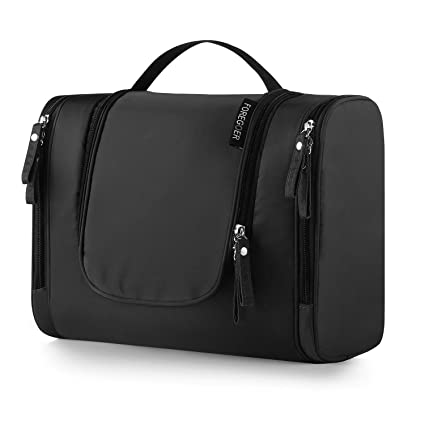 f8e9eca207 FOREGOER Trousse de toilette voyage grande sac de toilette cosmétiques à  suspendre - Noir