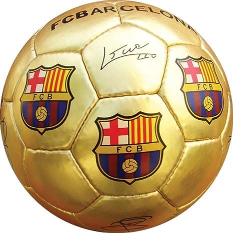 BALON FC BARCELONA DORADO: Amazon.es: Deportes y aire libre
