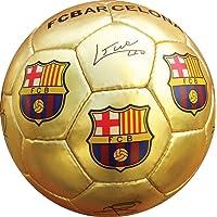 F.C Barcelona Gold Maat 5 Handtekening Voetbal